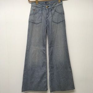 Hudson Jeans Engineer Railroad Stripe WIDE LEG
